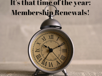 It's that time of the year-Membership Renewals!